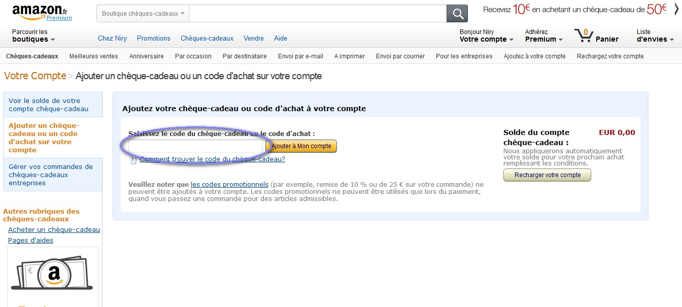 Coupon de réduction Amazon